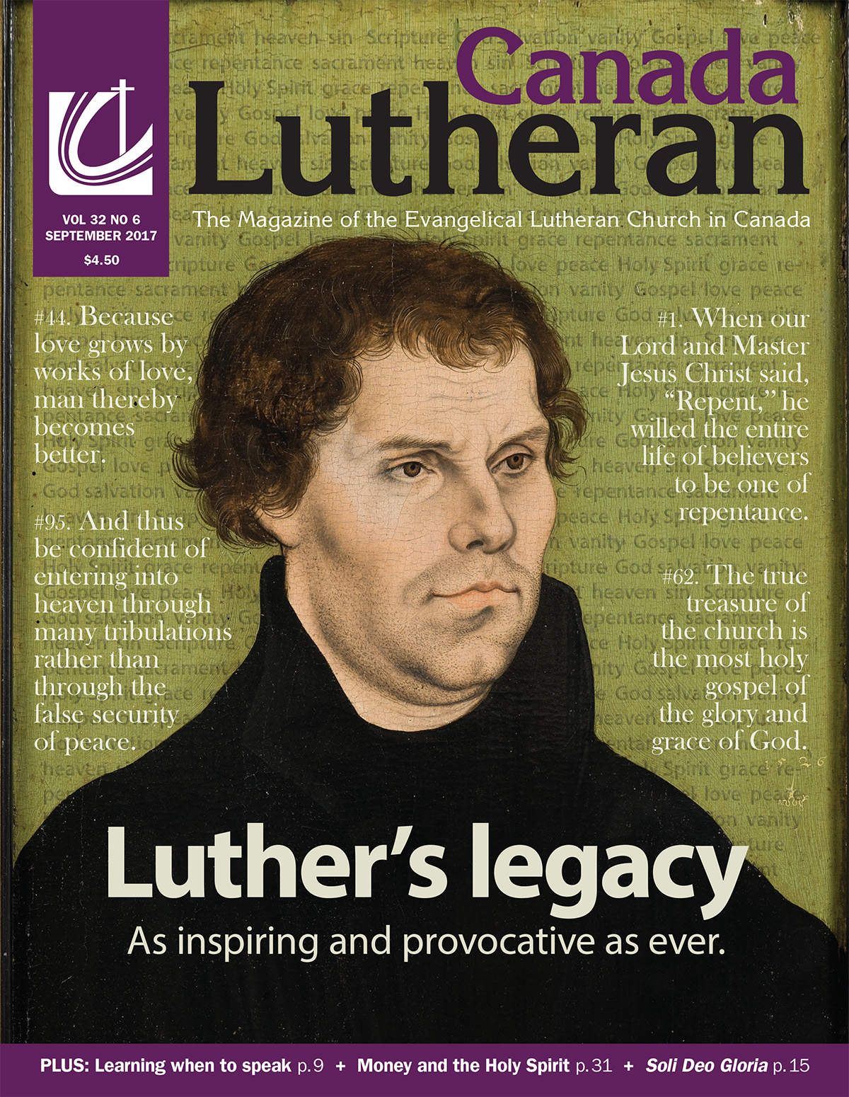 Luther's Legacy - Canada Lutheran Magazine - ELCIC