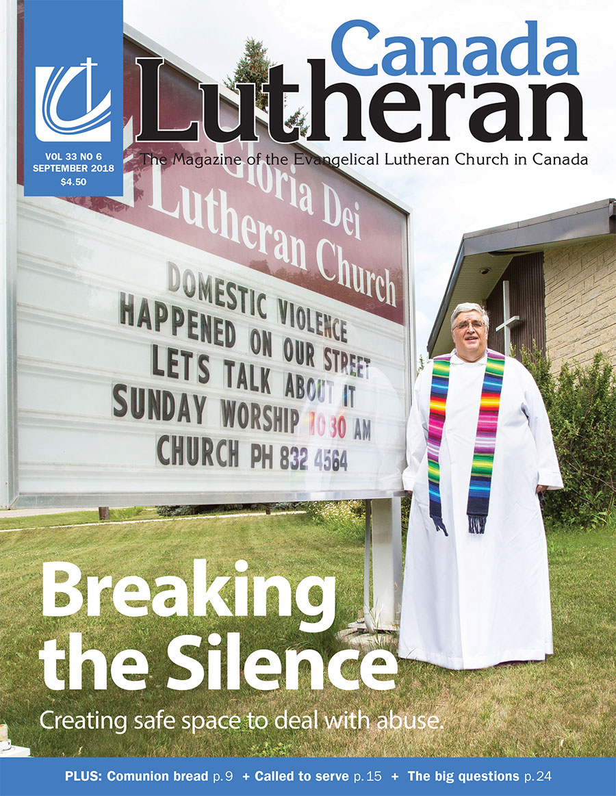 Breaking the Silence - Canada Lutheran Magazine - ELCIC