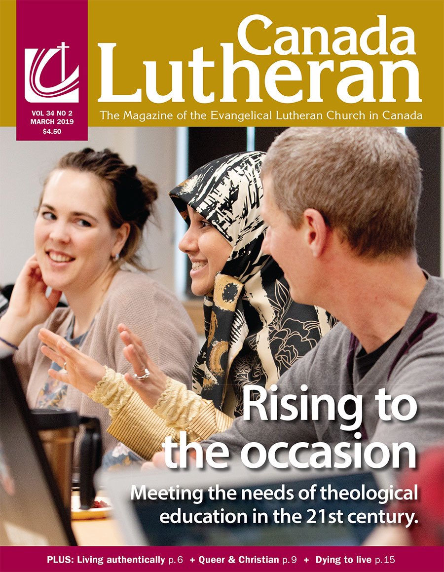 Rising to the Occasion - Canada Lutheran Magazine - ELCIC