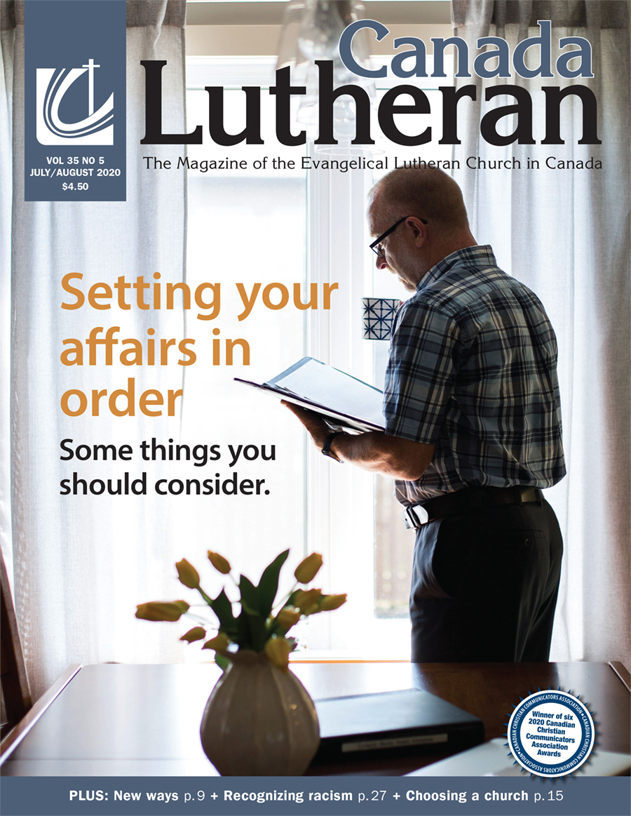 Setting Your Affairs in Order - Canada Lutheran Magazine - ELCIC